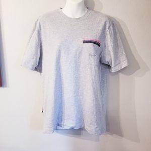 Rapha gray logo pocket short sleeved tshirt